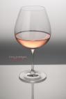 Verre en cristal, vin rosé