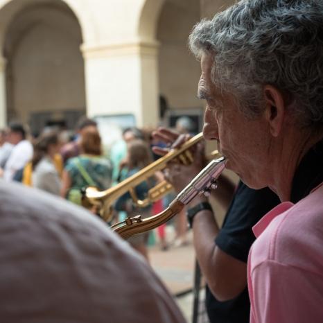 Groupe jazz pour la soirée d'inauguration