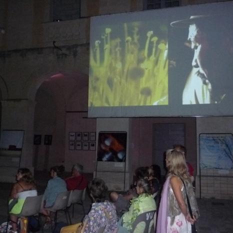 Projection nocturne d'Edgar Moroni