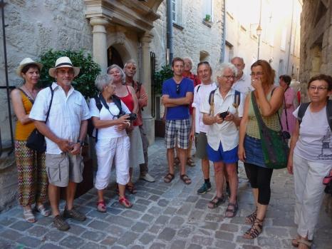Le groupe guidé par Christine Drouillard